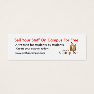 SellOnCampus  Banner Mini Business Card