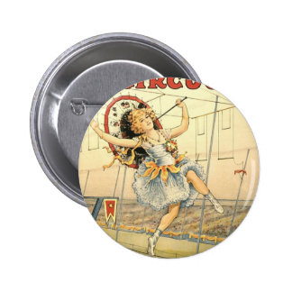 Sells Floto circus M'lle Beeson 2 Inch Round Button