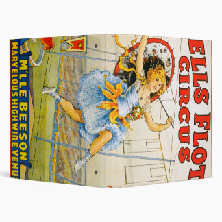 Sells Floto Circus Vinyl Binder