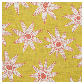 sema yellow orange fabric