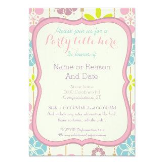 sembler chic de ressort de boho floral toute carton d'invitation  12,7 cm x 17,78 cm