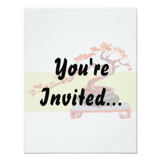 """Semi Cascade Bonsai Fall Colours Graphic Image 4.25"""" X 5.5"""" Invitation Card"""