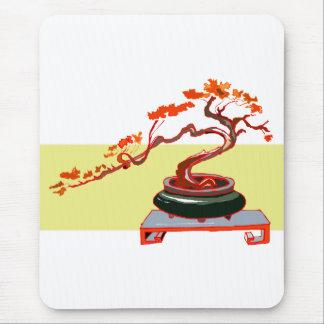 Semi Cascade Bonsai Fall Colours Graphic Image Mouse Pad