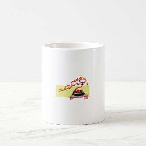Semi Cascade Bonsai Fall Colours Graphic Image Coffee Mugs