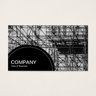 Semi-circle Panel (dots) - Scaffolding Business Card