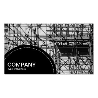Semi-circle Panel (dots) - Scaffolding Pack Of Standard Business Cards