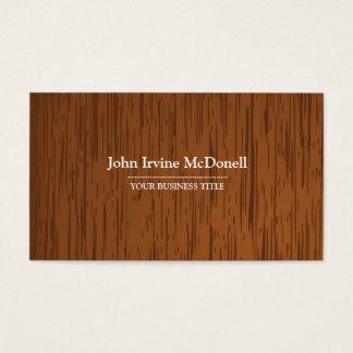 Semi-Dark Wood Texture Business Card