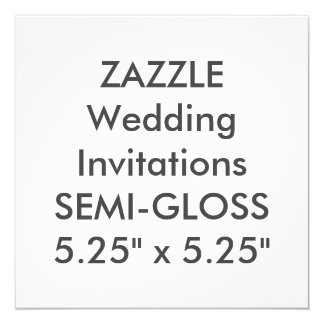 "SEMI-GLOSS 110lb 5.25"" Square Wedding Invitations"
