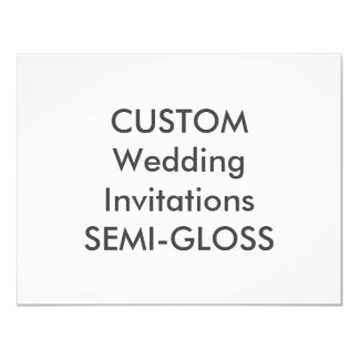"SEMI-GLOSS 110lb 5.5"" x 4.25"" Wedding Invitations"