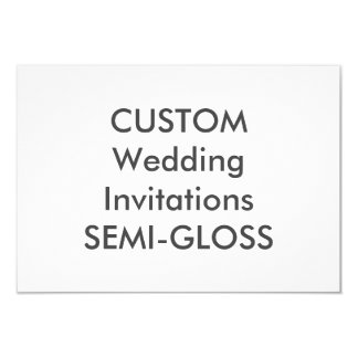 "SEMI-GLOSS 110lb 5"" x 3.5"" Wedding Invitations"