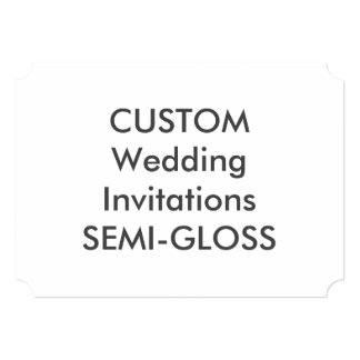 "SEMI-GLOSS 110lb 7""x5"" Ticket Wedding Invitations"