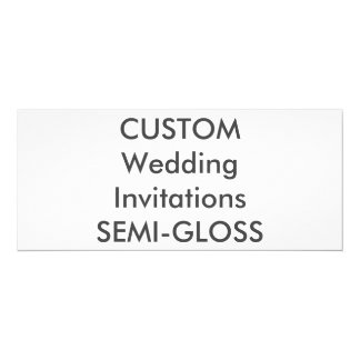 "SEMI-GLOSS 110lb 9.25"" x 4"" Wedding Invitations"