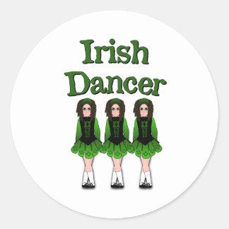 Semi-Goth Irish Dancers Classic Round Sticker