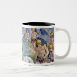 Semi-Naked Savages of India Using Pelicans to Catc Two-Tone Coffee Mug