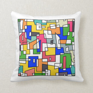 Semi Real Stained Glass Throw Pillow