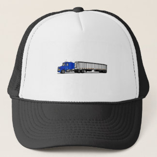 Semi Tractor Trailer Trucker Hat