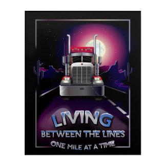 Semi Truck Wall Art
