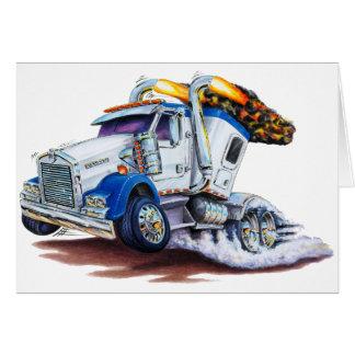 Semi Truck with Sleepercab Card