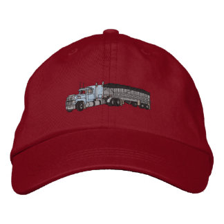 Semi with grain Trailer Embroidered Hats
