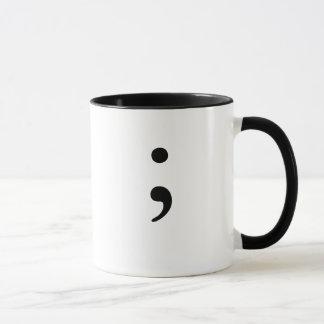 Semicolon  (B&W) Mug