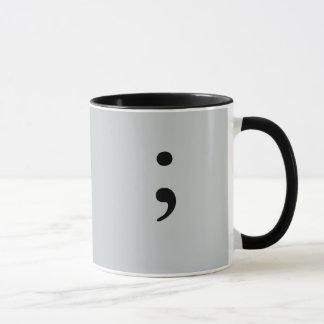Semicolon (Gray) Mug