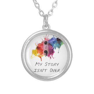 Semicolon- My Story isnt Over Silver Plated Necklace
