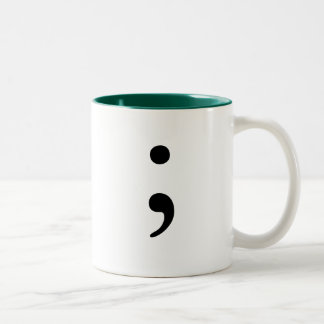 Semicolon Two-Tone Coffee Mug