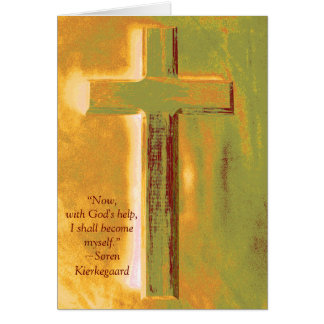 Seminary Kierkegard Quote Graduation Card