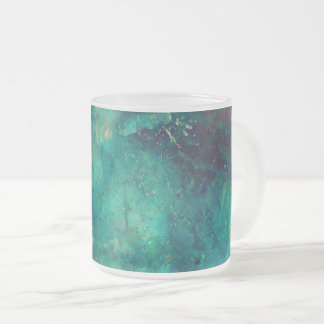 semiprecious texture frosted glass coffee mug