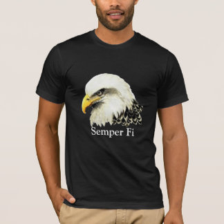 Semper Fi Bald Eagle Marines Quote T-Shirt