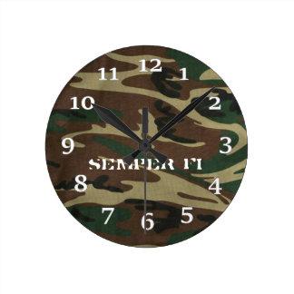 Semper Fi Round Clock