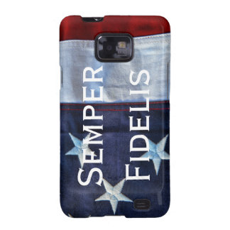 Semper Fidelis and American Flag Galaxy S2 Case