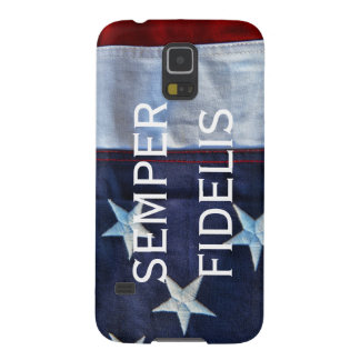 Semper Fidelis and American Flag Case For Galaxy S5