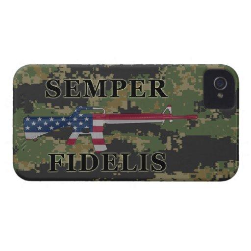 Semper Fidelis BlackBerry Bold Case Woodland