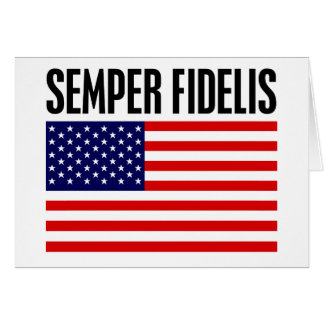 Semper Fidelis Greeting Card