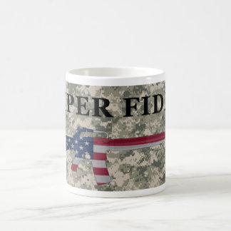 Semper Fidelis M16 Coffee Mug ACU