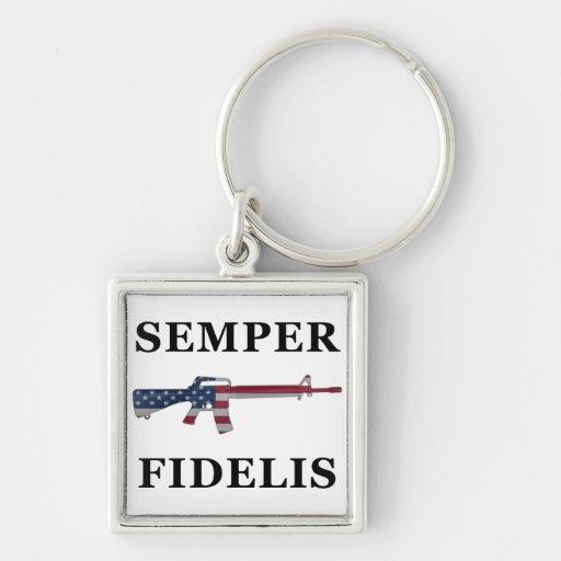 Semper Fidelis M16 Keychain