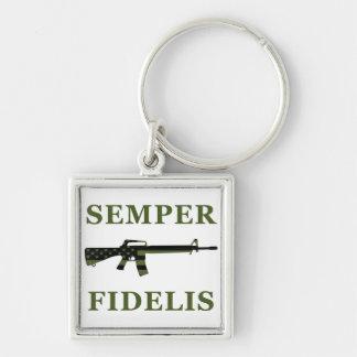 Semper Fidelis M16 Keychain Subdued