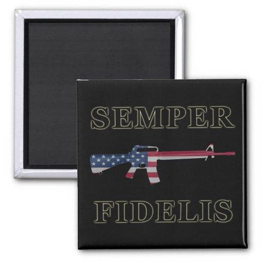 Semper Fidelis M16 Magnet Black