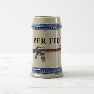 Semper Fidelis M16 Stein 18 Oz Beer Stein