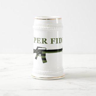 Semper Fidelis M16 Stein Subdued 18 Oz Beer Stein