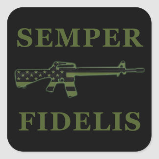 Semper Fidelis M16 Sticker Black Subdued