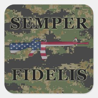Semper Fidelis M16 Sticker Digital