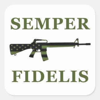 Semper Fidelis M16 Sticker Subdued