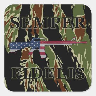 Semper Fidelis M16 Sticker Tiger Stripe