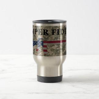 Semper Fidelis M16 Travel Mug ACU