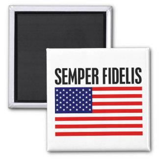 Semper Fidelis Square Magnet