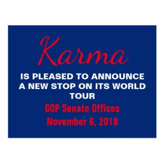 Senate Karma Vote 2018 Remember Resistance Postcard