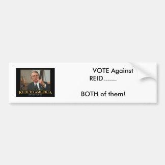 senator-harry-reid,           VOTE Against  REI... Car Bumper Sticker