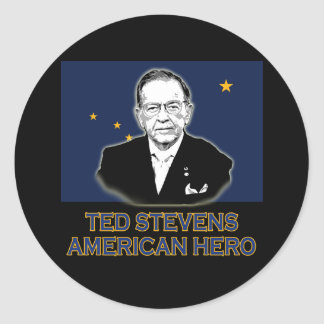 Senator Ted Stevens T-shirt,  American Hero Classic Round Sticker